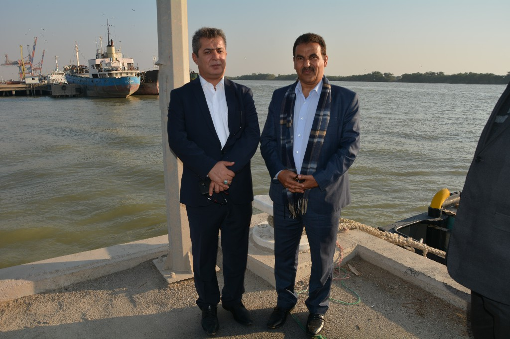 سفیر عمان و رئیس اتاق بازرگانی خرمشهر در بندر خرمشهر
